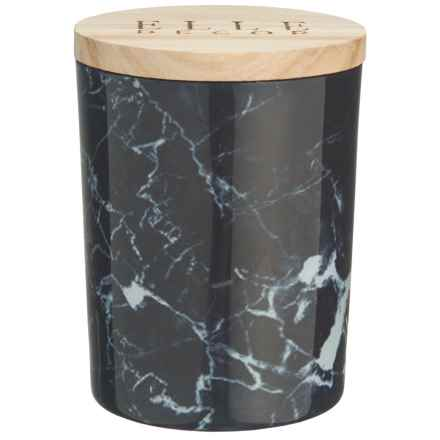 Jay Imports Elle Decor Black Currant Marbled Jar Candle - 16.6 oz. in Black - Overstock