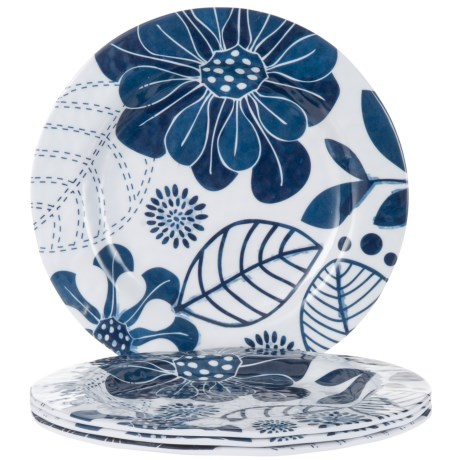 Jay Imports Floral Salad Plates - Set of 4 in Floral