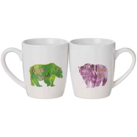 Jay Imports His and Hers Bear Coffee Mug Set - 15 oz., Set of 2 in Purple/Green - Closeouts