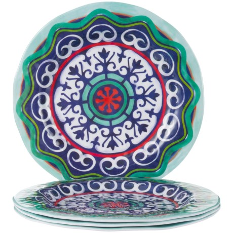 Jay Imports Impression Dinner Plates - Set of 4 in Multi  sc 1 st  Sierra Trading Post & Jay Imports Impression Dinner Plates - Set of 4 - Save 71%