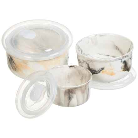 Jay Imports Marble Tortoise Storage Bowls - Set of 3 in Grey/White - Overstock
