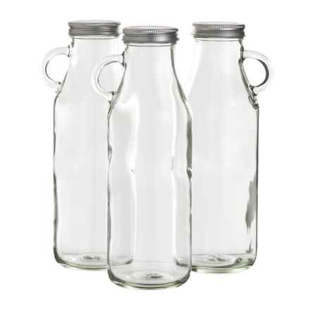 Jay Imports Milk Bottle - 32 oz., Set of 3 in Clear - Closeouts