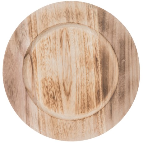 """Jay Imports Paulownia Wooden Charger - 13"""" in Natural"""