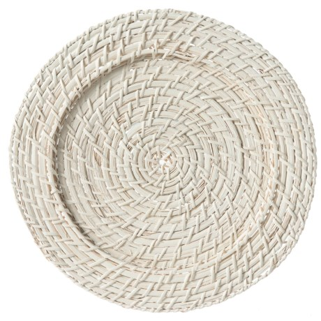 """Jay Imports Rattan Charger - 13"""" in White"""