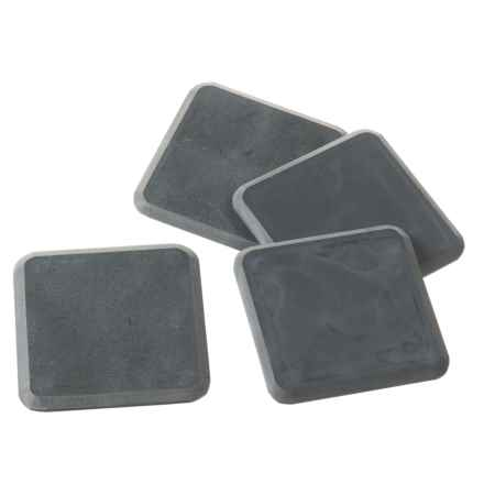 Jay Imports Slate Coasters - Set of 4 in Slate - Closeouts