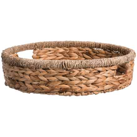 Jay Imports Water Hyacinth Round Tray in Natural - Overstock