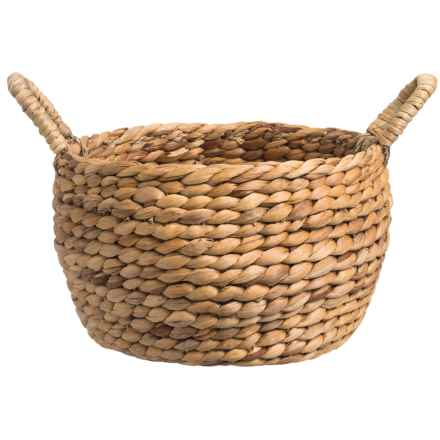 "Jay Imports Water Hyacinth Storage Basket - 11"" Round in Natural - Overstock"