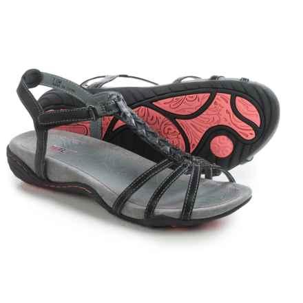 JBU by Jambu Azalea Vegan Leather Sandals (For Women) in Black - Closeouts