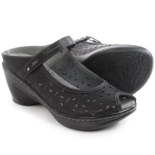 JBU by Jambu Camino Wedge Sandals - Vegan Leather (For Women) in Black/Grey - Closeouts
