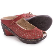 JBU by Jambu Camino Wedge Sandals - Vegan Leather (For Women) in Red/Cream - Closeouts
