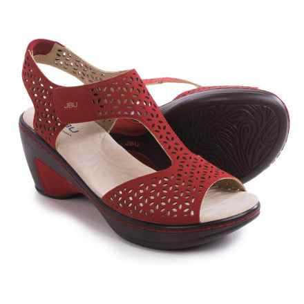 JBU by Jambu Chloe Wedge Sandals - Vegan Leather (For Women) in Red - Closeouts
