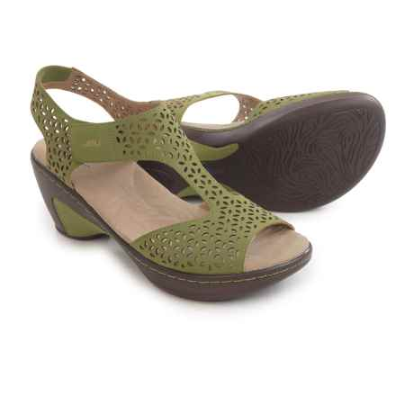 JBU by Jambu Chloe Wedge Sandals - Vegan Leather (For Women) in Sage - Closeouts