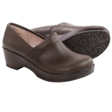 JBU by Jambu Cordoba Leather Clogs - Closed Back (For Women) in Brown - Closeouts