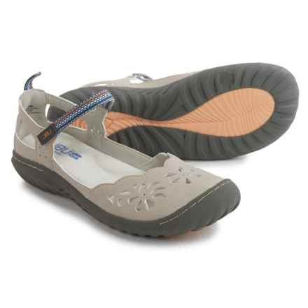 JBU by Jambu Deep Sea Encore Mary Jane Shoes - Vegan Leather (For Women) in Light Grey - Closeouts