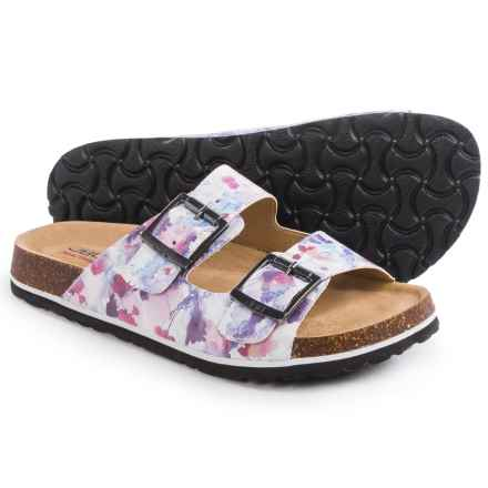 JBU by Jambu Ellen Too Sandals - Vegan Leather (For Women) in White/Flower - Closeouts