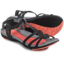 JBU by Jambu Leyla Vegan Leather Sandals (For Women) in Black - Closeouts