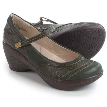 JBU by Jambu Melrose Mary Jane Shoes - Vegan Leather (For Women) in Olive - Closeouts