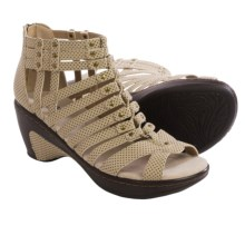 JBU by Jambu Nectar Wedge Sandals - Vegan Leather (For Women) in Beige Dot - Closeouts