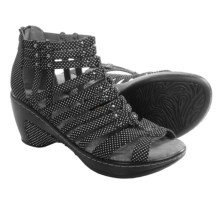 JBU by Jambu Nectar Wedge Sandals - Vegan Leather (For Women) in Black Dot - Closeouts