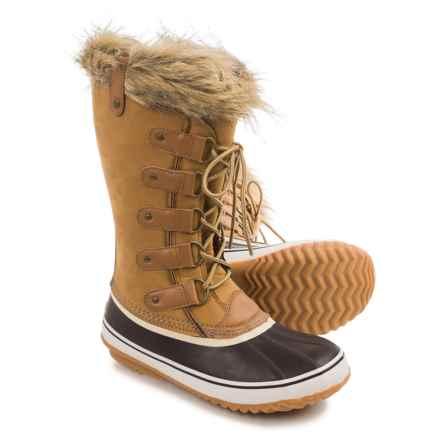JBU Edith Pac Boots - Waterproof, Vegan Leather (For Women) in Tan - Closeouts