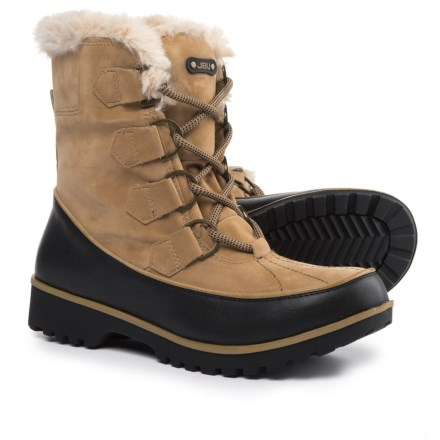 7d1c5d4547a0 JBU Manchester Winter Boots - Vegan Leather (For Women) in Tan - Closeouts