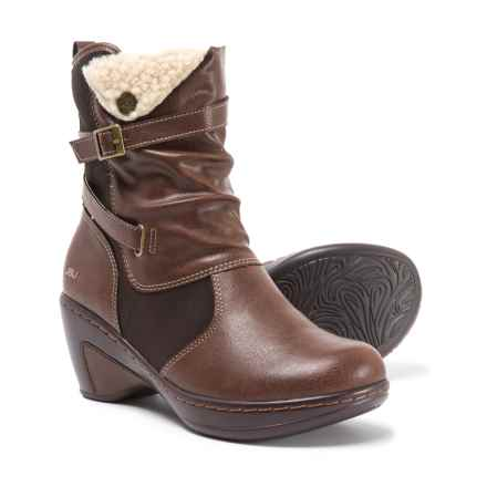 JBU Sandalwood Slouch Boots - Vegan Leather (For Women) in Brown