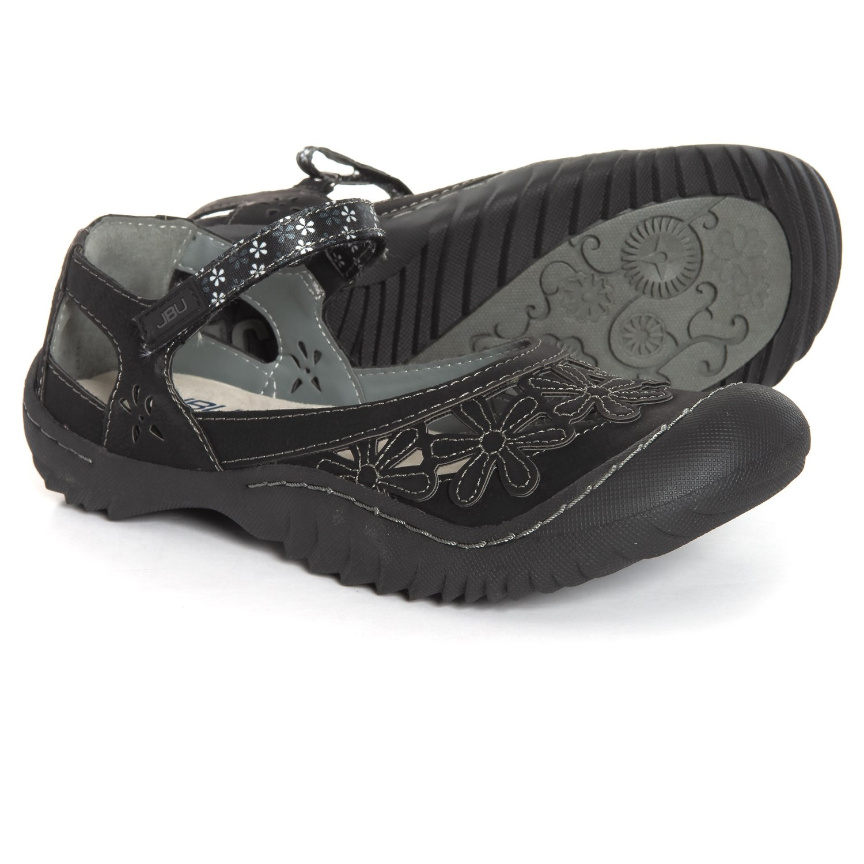 57feb2790337 JBU Wildflower Mary Jane Shoes - Vegan Leather (For Women) in Black