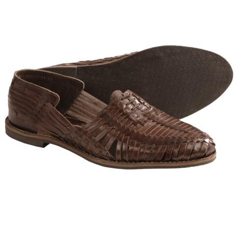 J.D. Fisk Hugo Loafer Shoes - Woven Leather (For Men) in Black Leather