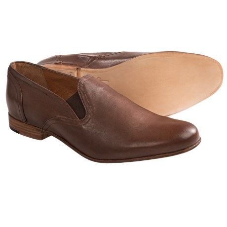 J.D. Fisk Randolph Shoes - Leather, Slip-Ons (For Men) in Brown Leather