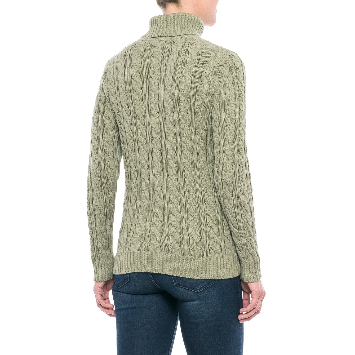 Jeanne Pierre Fisherman Cable-Knit Turtleneck Sweater (For Women ...
