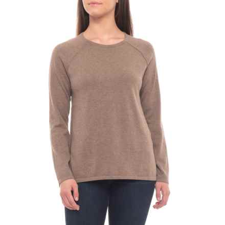 Jeanne Pierre High-Low Cotton Sweater (For Women) in Taupe Heather - Overstock