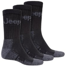 Jeep Signature Boot Socks - 3-Pack, Crew (For Men) in Black - Closeouts