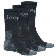 Jeep Signature Boot Socks - 3-Pack, Crew (For Men) in Navy - Closeouts
