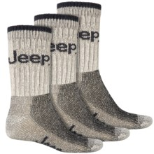 Jeep Signature Boot Socks - 3-Pack, Crew (For Men) in Stone - Closeouts