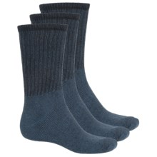 Jeep Vintage Boot Socks - 3-Pack, Crew (For Men) in Blue - Closeouts