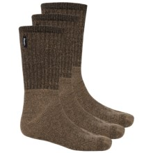 Jeep Vintage Boot Socks - 3-Pack, Crew (For Men) in Brown - Closeouts