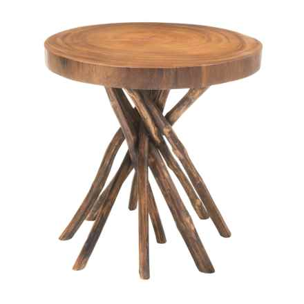 Jeffan Liberte Wood Side Table in Natural - Closeouts