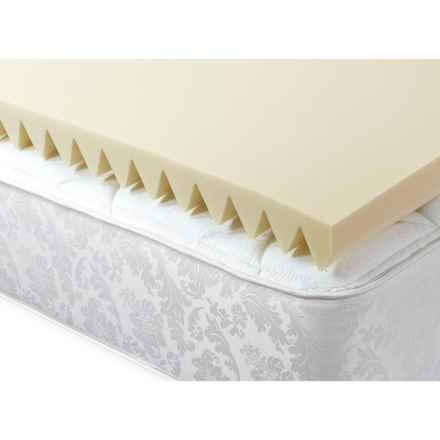 """Jeffco Fibres 3"""" Mattress Pad - King, Memory Foam in See Photo - Closeouts"""