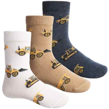 Jefferies Construction Socks - 3-Pack, Crew (For Little Boys) in Putty - Closeouts