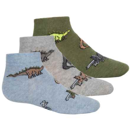 Jefferies Dino Socks - 3-Pack, Ankle (For Toddlers and Little Kids) in Heather - Closeouts