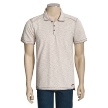 Jeremiah Amos Polo Shirt - Speckled Cotton Jersey Slub, Short Sleeve (For Men) in Alfredo - Closeouts