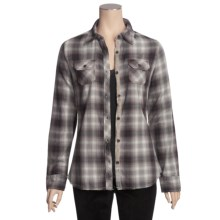 Jeremiah Ashton Plaid Shirt - Long Sleeve (For Women) in Eggplant - Closeouts