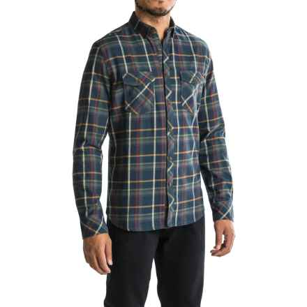Jeremiah Barrett Flannel Shirt - Long Sleeve (For Men) in Admiral - Closeouts