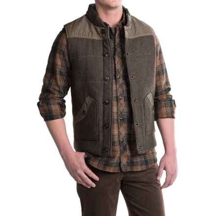 Jeremiah Belmont Waxed-Canvas Vest - Insulated (For Men) in Peat Heather - Closeouts