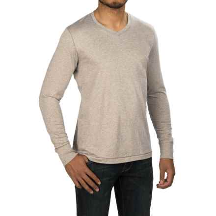 Jeremiah Blake Slub Jersey Shirt - V-Neck, Long Sleeve (For Men) in Alfred Heather - Closeouts