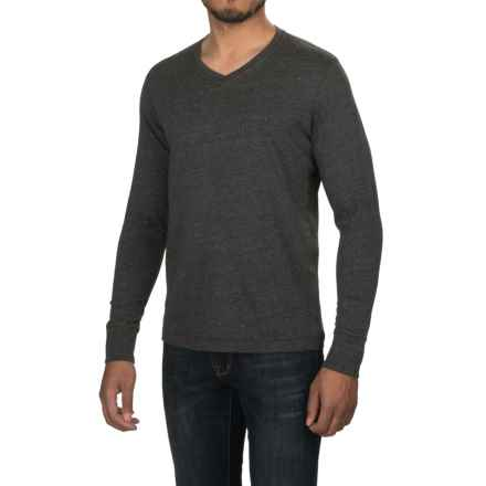 Jeremiah Blake Slub Jersey Shirt - V-Neck, Long Sleeve (For Men) in Black Heather - Closeouts
