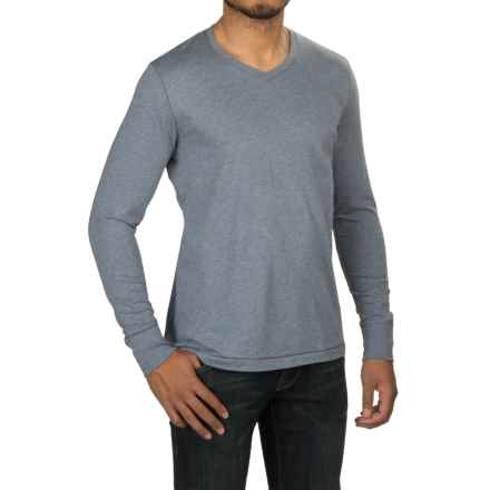 Jeremiah Blake Slub Jersey Shirt - V-Neck, Long Sleeve (For Men) in Diver Heather - Closeouts