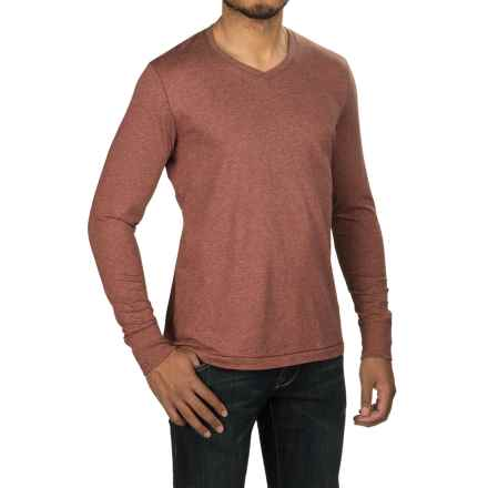 Jeremiah Blake Slub Jersey Shirt - V-Neck, Long Sleeve (For Men) in Henna Heather - Closeouts