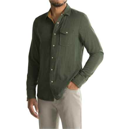 Jeremiah Chase Reversible Gauze Shirt - Snap Front, Long Sleeve (For Men) in Deep Pine Heather - Closeouts