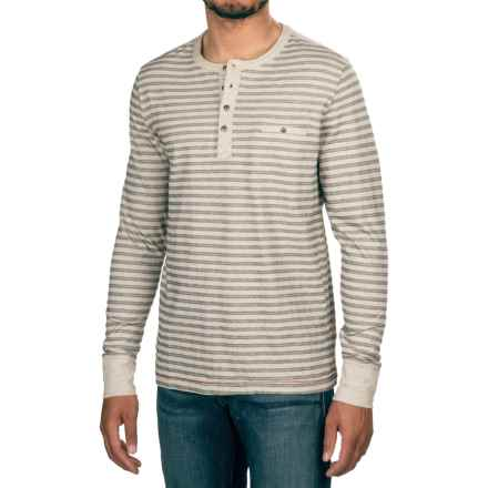 Jeremiah Cillian Henley Shirt - Long Sleeve (For Men) in Alfred Heather - Closeouts